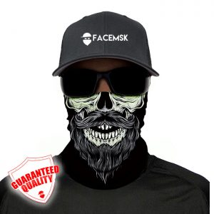 Bearded Skull Face Mask – Face Shield