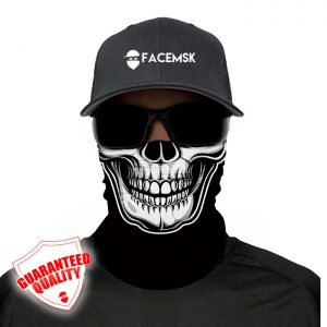 Black Skull Face Mask – Face Shield