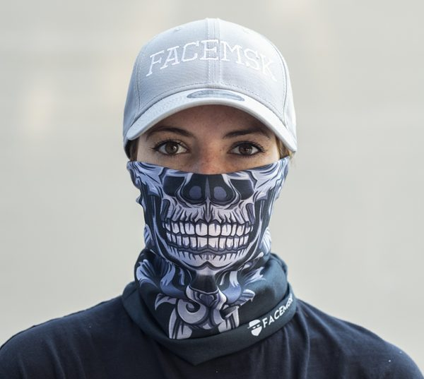 Floral Skull Face Mask – Face Shield - Bandana