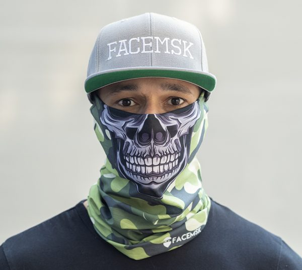 Green Military Master Skull Face Mask – Face Shield