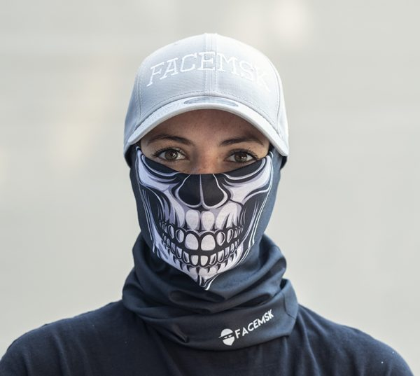Black Skull Bandana - Face Mask