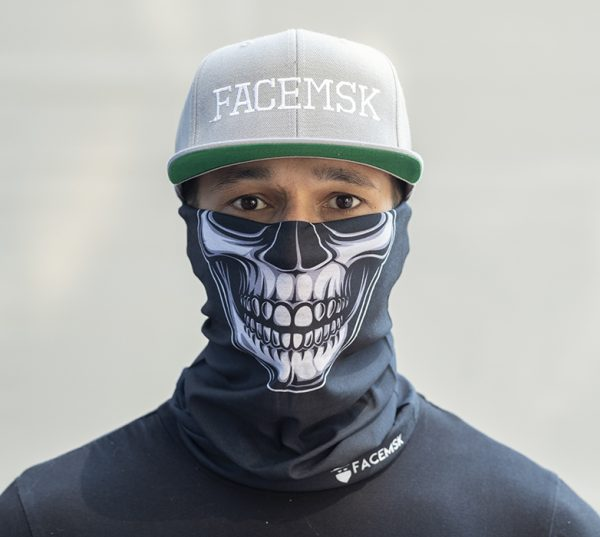 Black Skull Face Shield - Face Mask