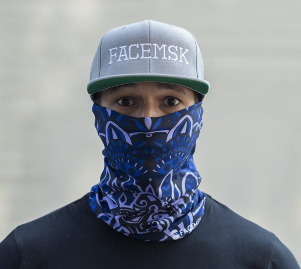 Maori Blue Face Mask - Face Shield