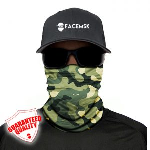 Green Military Camo Face Mask – Face Shield