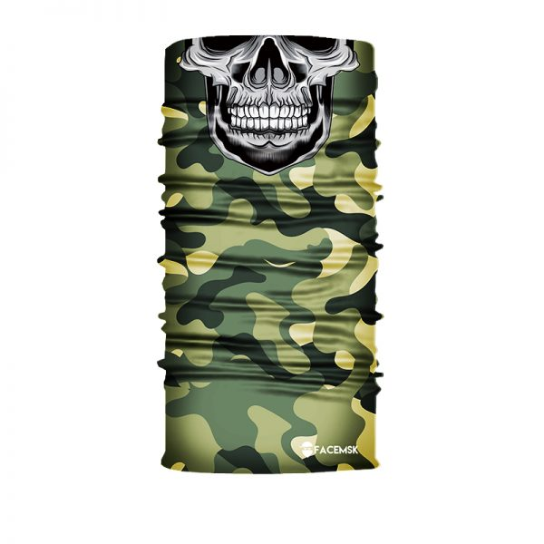 Green Military Master Skull Face Mask - Face Shield