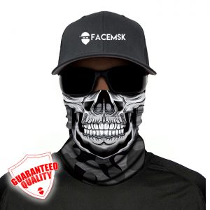 Grey Military Camo Master Skull Face Mask – Face Shield