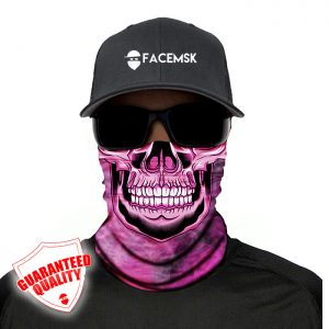 Smoking Pink Master Skull Face Mask – Face Shield