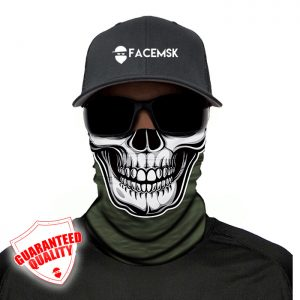 Tactical Green Skull Face Mask – Face Shield