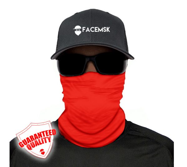 Tactical Red Face Mask – Face Shield