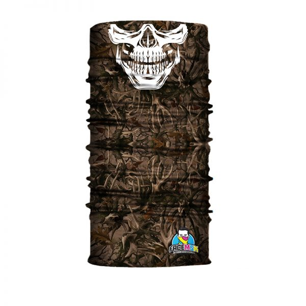 Forest Camo Skull Face Shields - Face Mask